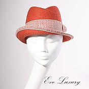 Аксессуары handmade. Livemaster - original item Orange hat women`s order to purchase a