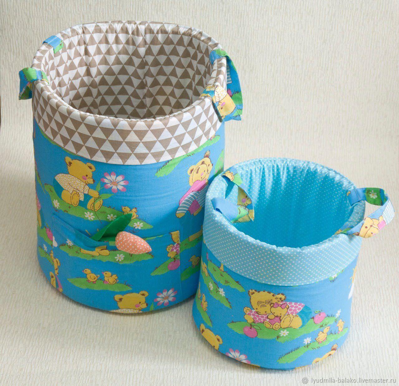 Мягкая поролоновая корзина для хранения игрушек, Аксессуары, Гурьевск, Фото №1