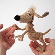 Куклы и игрушки handmade. Livemaster - original item Knitted toy Dachshund Henry. Handmade.