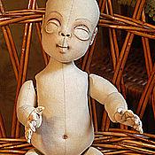 Материалы для творчества handmade. Livemaster - original item Pattern textile ball-jointed doll with concealed joints. Handmade.