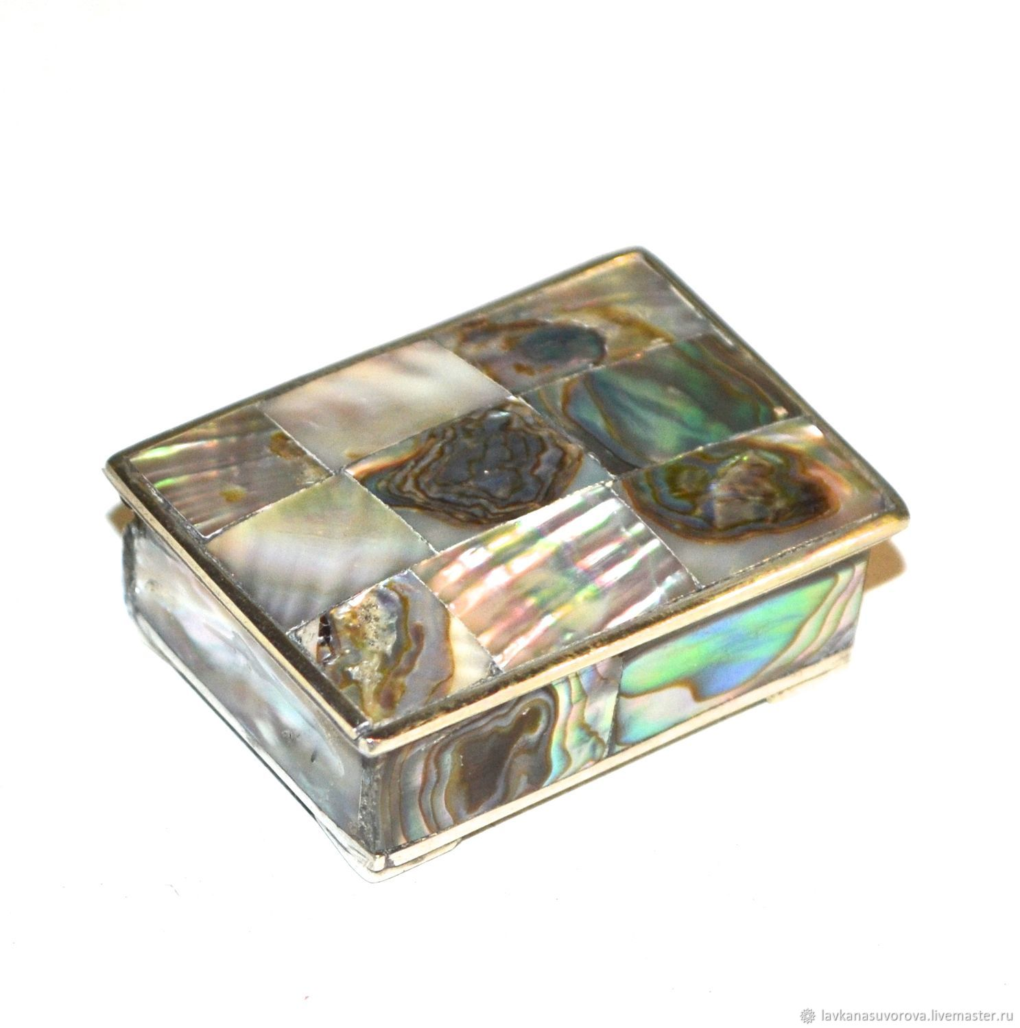 Antique jewelry box mother of pearl brass, Vintage Souvenirs, Rostov-on-Don,  Фото №1