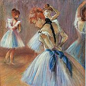 Картины и панно handmade. Livemaster - original item Painting Pastel Ballet Studio. Handmade.