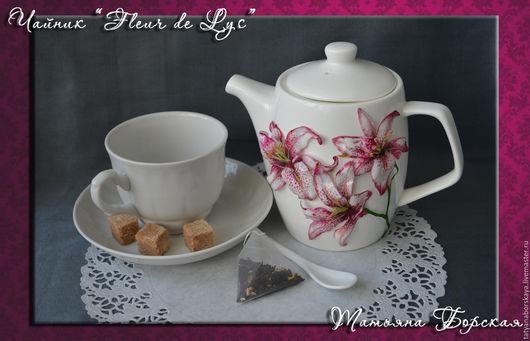 Чайники, кофейники ручной работы. Ярмарка Мастеров - ручная работа. Купить Чайник «Fleur de Lys» (Цветок лилии). Handmade.