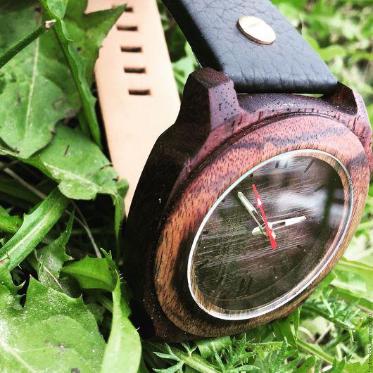 Часы ручной работы. Ярмарка Мастеров - ручная работа. Купить Наручные часы из дерева. Handmade. Коричневый, подарки, необычные подарки