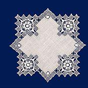 """Для дома и интерьера ручной работы. Ярмарка Мастеров - ручная работа Салфетка  """"Звезда"""" льняная с  ажурной старинной вышивкой. Handmade."""