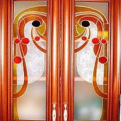 Для дома и интерьера ручной работы. Ярмарка Мастеров - ручная работа Роспись стекла, фасад для кухни.. Handmade.