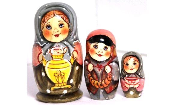 Матрёшка Вера с самоваром  3 м 11 см, Народная кукла, Шатура,  Фото №1