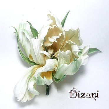 Flowers and floristry handmade. Livemaster - original item Tulip silk. Silk flowers. FABRIC FLOWERS.. Handmade.