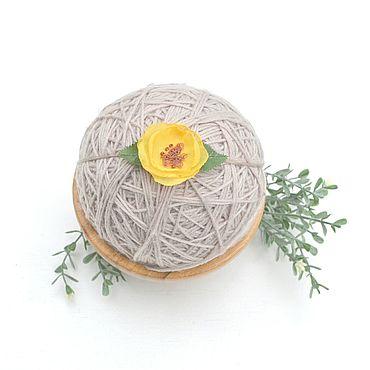 Работы для детей, ручной работы. Ярмарка Мастеров - ручная работа Повязочка для фотосессии с красивым цветком. Handmade.