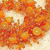 """Украшения ручной работы. Ярмарка Мастеров - ручная работа Комплект """"Хочешь сладких апельсинов?"""". Handmade."""
