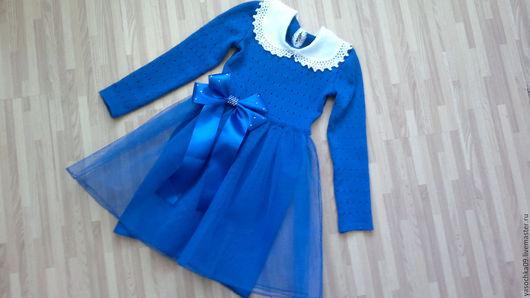 Одежда для девочек, ручной работы. Ярмарка Мастеров - ручная работа. Купить Красивейшее теплое вязаное платье. Handmade. Платье