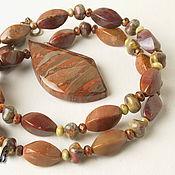 Украшения handmade. Livemaster - original item Pendant Jasper. Handmade.