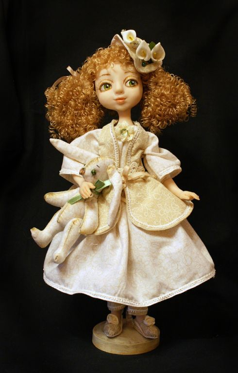 Глиняная кукла своими руками