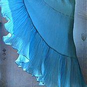Одежда ручной работы. Ярмарка Мастеров - ручная работа Юбка в пол из марлевки (голубая). Handmade.