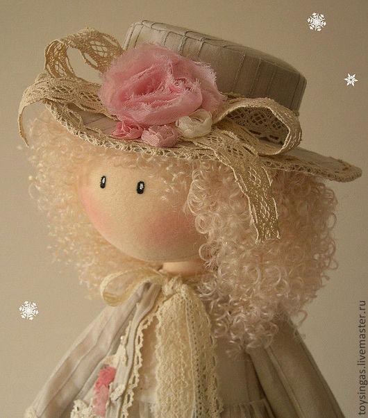 Коллекционные куклы ручной работы. Ярмарка Мастеров - ручная работа. Купить Кукла текстильная Anne. Handmade. Бежевый, подарок