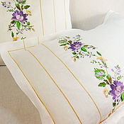 Для дома и интерьера handmade. Livemaster - original item Natural linen pillowcase with embroidery Price is for 1 piece.. Handmade.