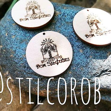 Дизайн и реклама ручной работы. Ярмарка Мастеров - ручная работа Бирки из дерева, бирки, визитки, брендирование, бирки с логотипом. Handmade.