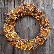 Цветы и флористика ручной работы. Ярмарка Мастеров - ручная работа Апельсиновый венок. Handmade.