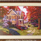 """Картины и панно ручной работы. Ярмарка Мастеров - ручная работа Вышитая картина """"Уютный сад"""". Handmade."""