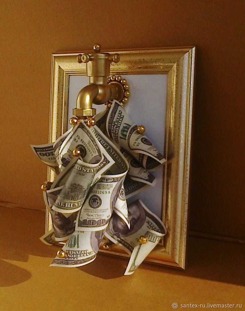 Денежный кран в рамке, Прикольные подарки, Челябинск,  Фото №1