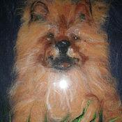 """Картины и панно ручной работы. Ярмарка Мастеров - ручная работа Собака"""" Чаушка"""". Handmade."""