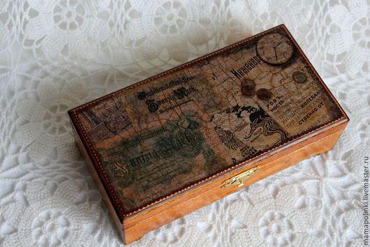 """Шкатулки ручной работы. Ярмарка Мастеров - ручная работа. Купить КУпюрница """"Старинные деньги"""". Handmade. Коричневый, купюрница мужская, мужчине"""