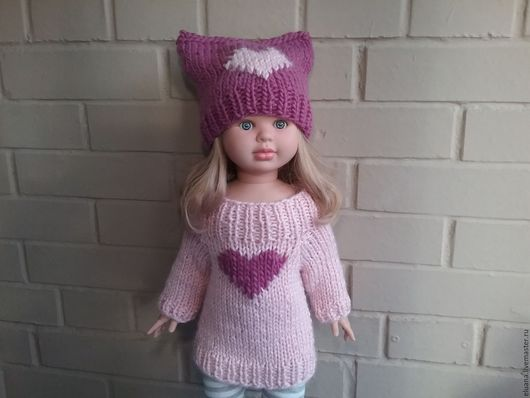 Одежда для девочек, ручной работы. Ярмарка Мастеров - ручная работа. Купить Платье+ шапка. Handmade. Платье свитер, платье теплое
