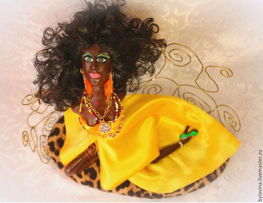 """Коллекционные куклы ручной работы. Ярмарка Мастеров - ручная работа. Купить Авторская кукла """"Негритянка"""". Handmade. Разноцветный, африканские мотивы"""