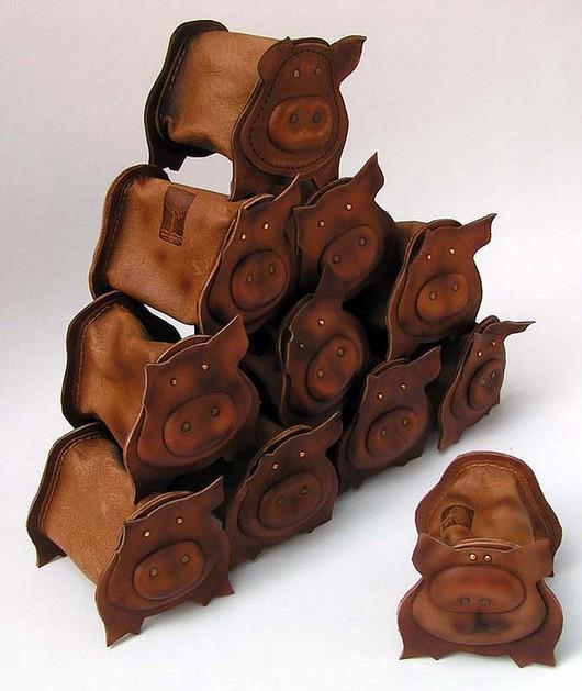 Customizes Gifts handmade. Livemaster - handmade. Buy piglet piggy bank.Piggy, beige, metal hardware