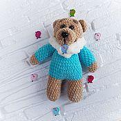 Мягкие игрушки ручной работы. Ярмарка Мастеров - ручная работа Мишка в бирюзовом свитере. Handmade.