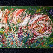 Картины и панно handmade. Livemaster - original item Abstraction.Flowers.. Handmade.