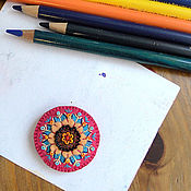 Украшения ручной работы. Ярмарка Мастеров - ручная работа Брошка-кругляшка. Handmade.