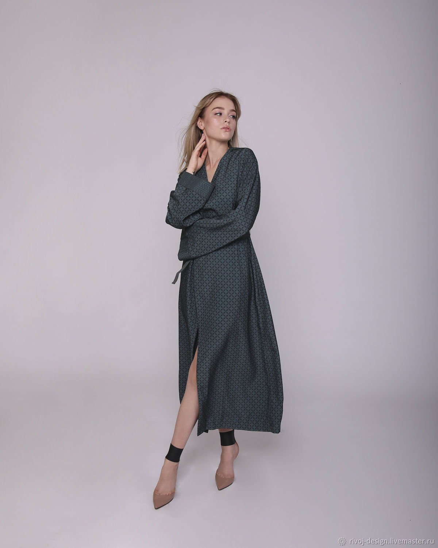 Wrap dress with geometric print, Dresses, Moscow,  Фото №1