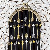 Очечник ручной работы. Ярмарка Мастеров - ручная работа Очечник: Очечник футляр для очков Золотые стрелы. Handmade.