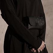 Сумки и аксессуары handmade. Livemaster - original item Waist bag/clutch with rivets. Handmade.