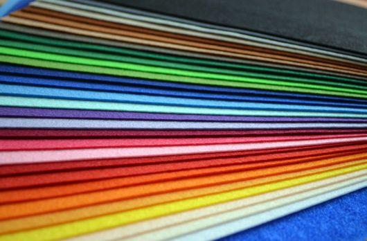 Другие виды рукоделия ручной работы. Ярмарка Мастеров - ручная работа. Купить ЖЕСТКИЙ КОРЕЙСКИЙ фетр в наборе 26 цветов 16х28см. Handmade.