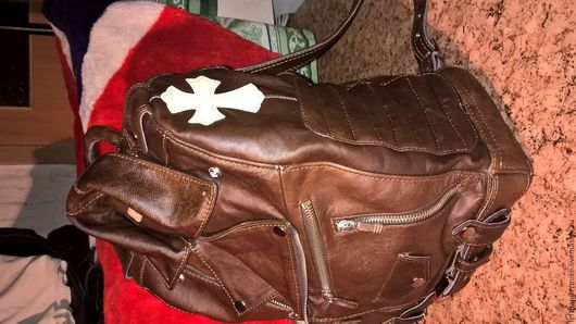 Рюкзаки ручной работы. Ярмарка Мастеров - ручная работа. Купить Кожаный рюкзак. Handmade. Комбинированный, вискоза