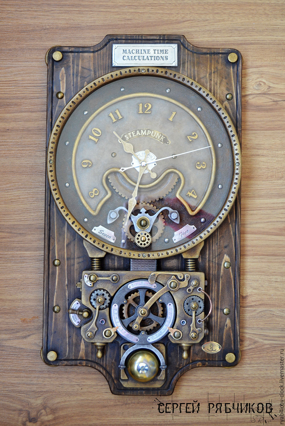 Wall clock decorative machine time calculations shop online clocks for home handmade livemaster handmade buy wall clock decorative amipublicfo Images