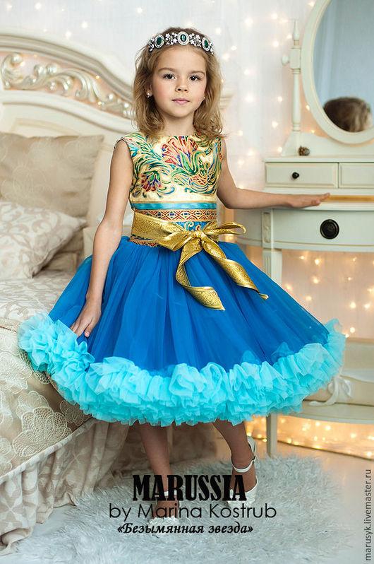 Одежда для девочек, ручной работы. Ярмарка Мастеров - ручная работа. Купить Платье БЗ-58. Handmade. Синий, платье для девочки