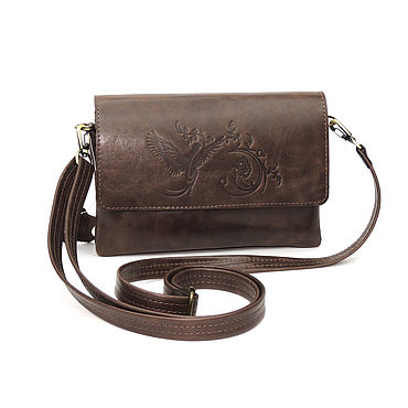 Bags and accessories handmade. Livemaster - original item Bags: Clutch bag women`s leather brown Allegra Mod S74p-622. Handmade.