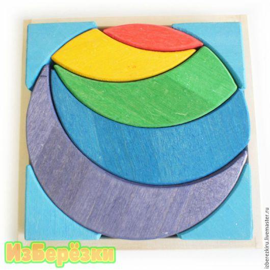 Развивающие игрушки ручной работы. Ярмарка Мастеров - ручная работа. Купить Лунный круг. Деревянная мозаика.. Handmade. Бирюзовый, игрушка