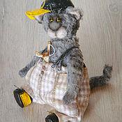 Куклы и игрушки ручной работы. Ярмарка Мастеров - ручная работа Кот тедди БубльГум (друзья мишек). Handmade.