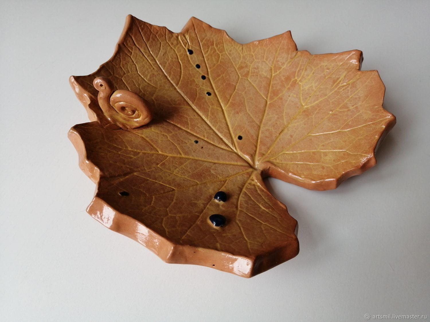 Plate Autumn leaf, Plates, Moscow,  Фото №1