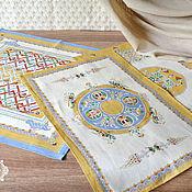 Для дома и интерьера handmade. Livemaster - original item Linen towels Patterns Russia. Handmade.