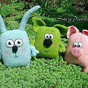 Куклы и игрушки ручной работы. Ярмарка Мастеров - ручная работа Свинка, котик и зайчишка. Handmade.