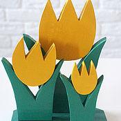"""Растения ручной работы. Ярмарка Мастеров - ручная работа """"Тюльпаны """" (ручная работа). Handmade."""