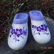 """Обувь ручной работы. Ярмарка Мастеров - ручная работа тапочки """"Клематис"""". Handmade."""