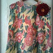 """Одежда ручной работы. Ярмарка Мастеров - ручная работа Блуза """"Акварельные пионы"""". Handmade."""