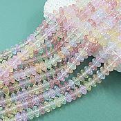 Материалы для творчества handmade. Livemaster - original item 20 PCs. Rondel 8h4 mm crackle mix of colors (5603). Handmade.