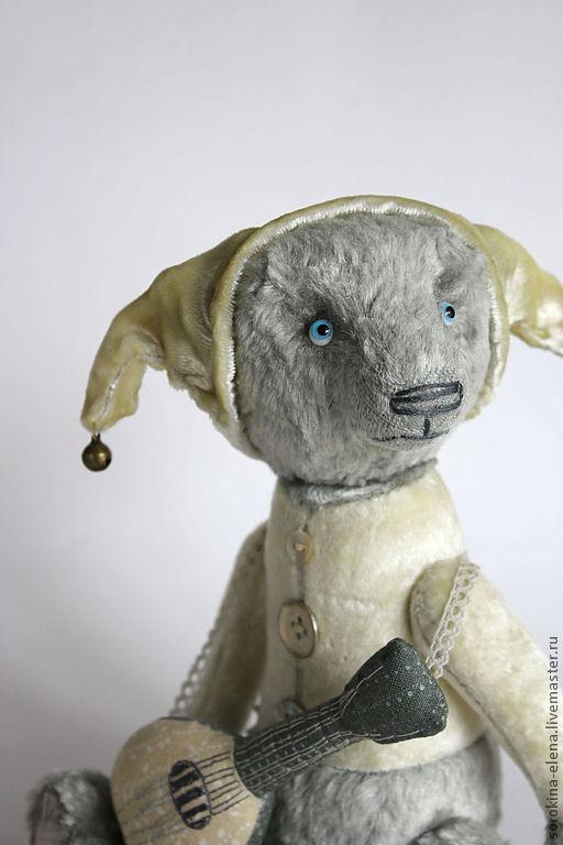Мишки Тедди ручной работы. Ярмарка Мастеров - ручная работа. Купить Лоренцо. Handmade. Серый, желто-серый, хлопок